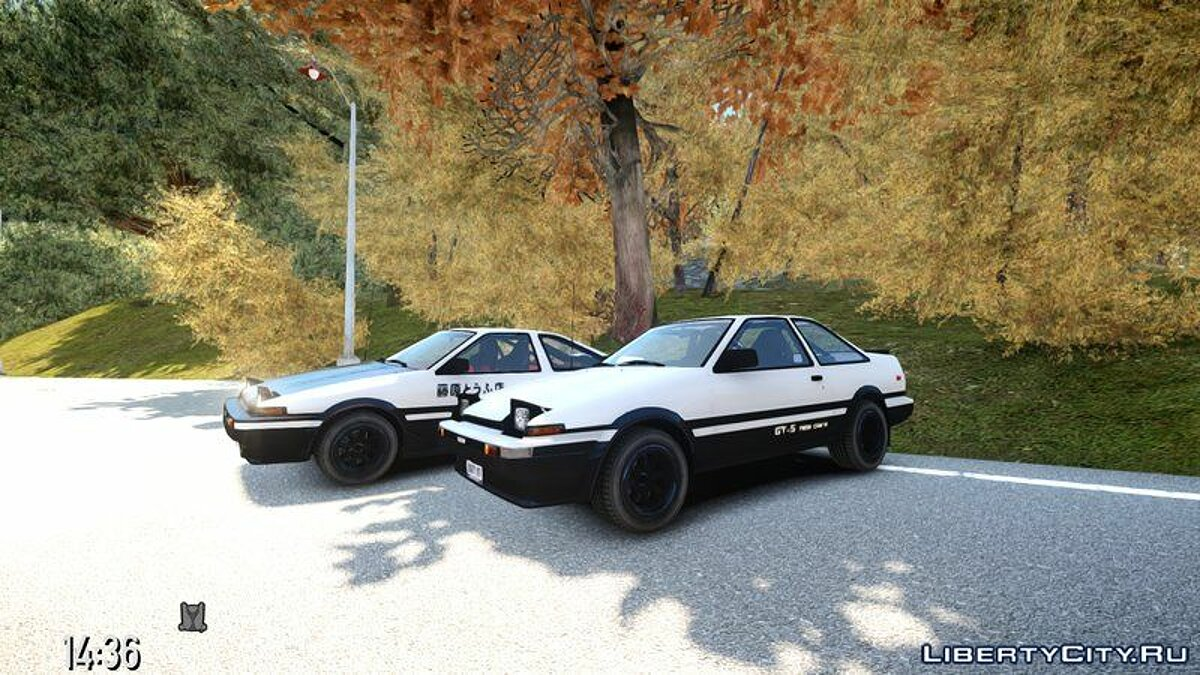 Toyota car Toyota Corolla Ae86 (Hatchback & Coupe) for GTA 4