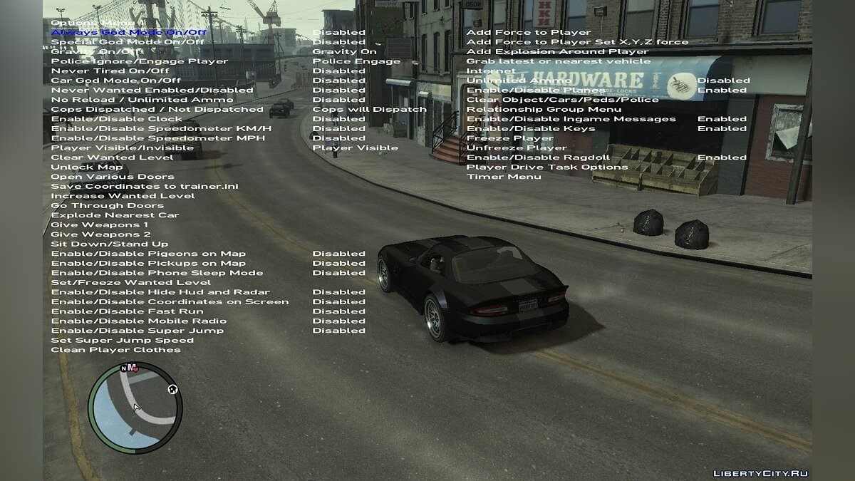 Trainer Simple Native Trainer 1.0.8.0 - Cheat Menu for GTA 4