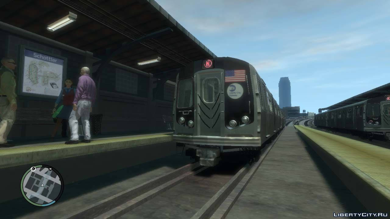 Trains and metro for GTA 4: 8 train for GTA 4