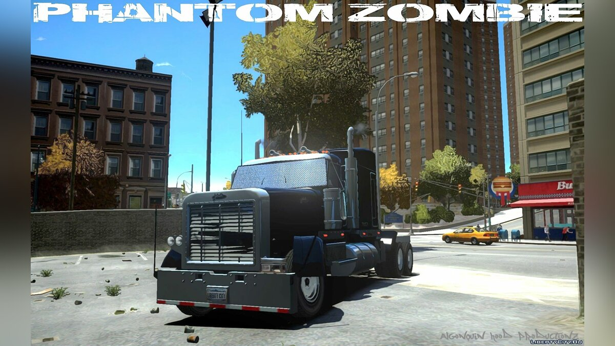 Trucks car Phantom Zombie [FIXED LOD] for GTA 4