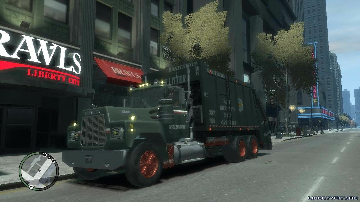Trucks car Mack R-600 Trash for GTA 4