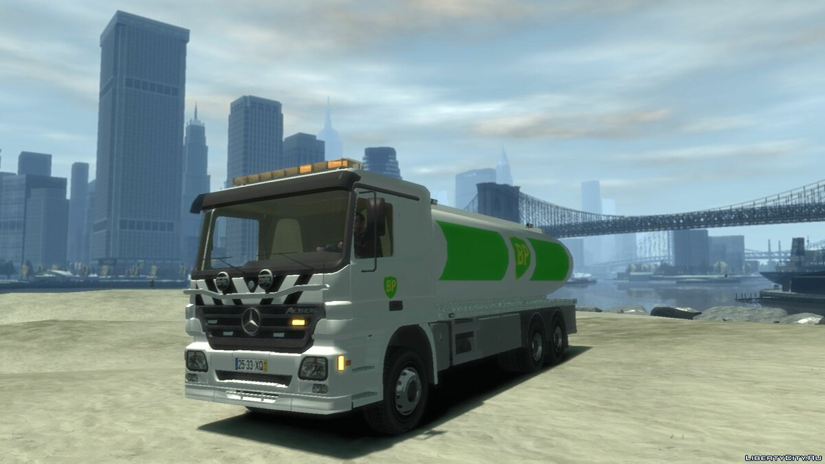 Trucks car Mercedes-Benz BP Gas Fuel for GTA 4