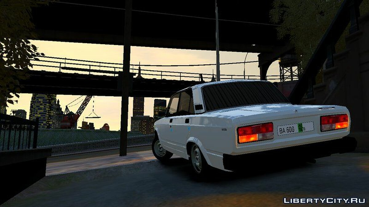 VAZ car VAZ 2107 16 BA 600 Autosh Style for GTA 4