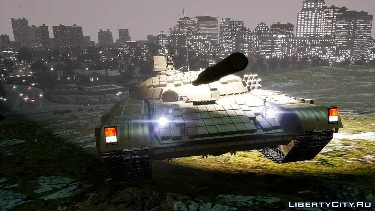 Military vehicle Tank T72 for GTA 4