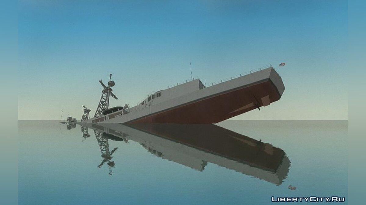 Boats and motorboats US Navy Frigate for GTA 4