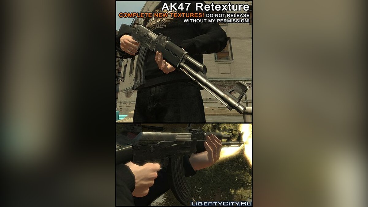 AK47 Retextured for GTA 4