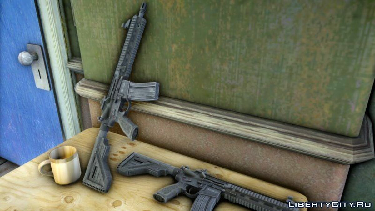 Weapon mod HK416 rifle in HD quality for GTA 4