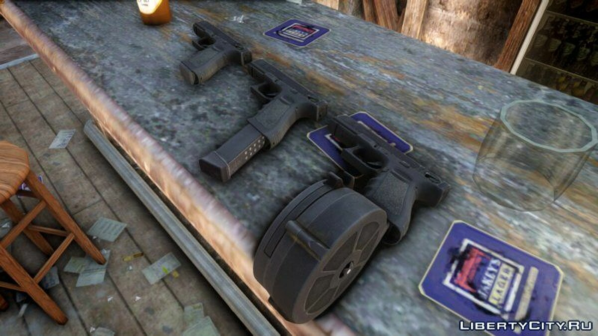 Weapon mod Glock 18 for TLAD for GTA 4