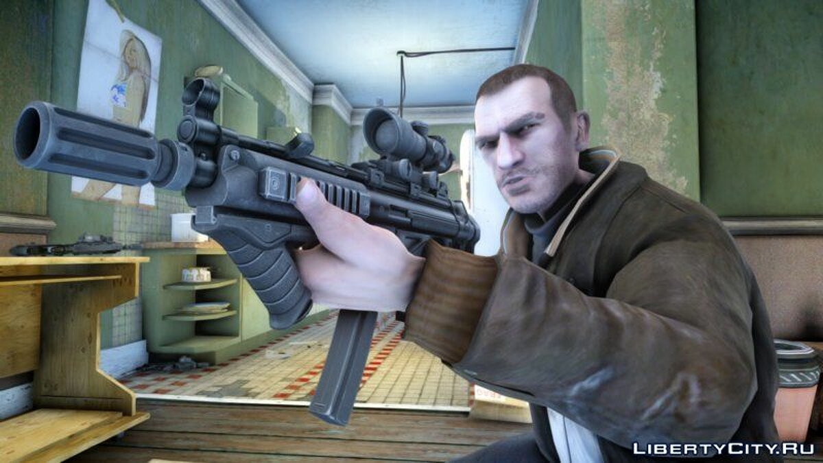 Weapon mod Improved MP5 in HD quality for GTA 4