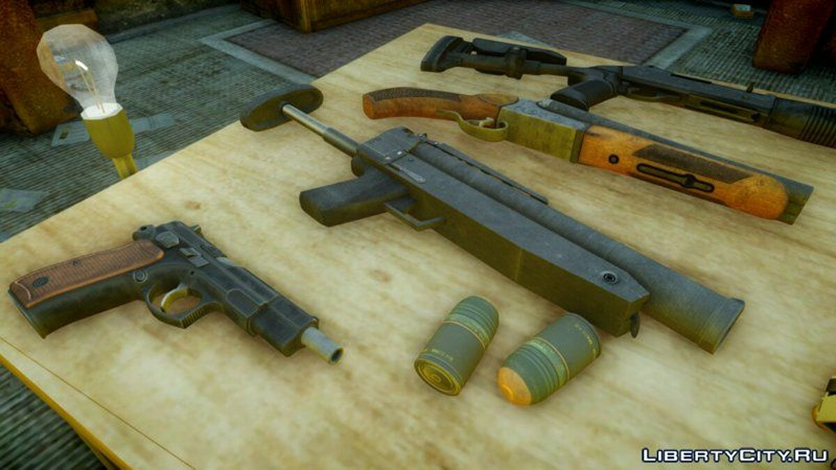 HD weapon pack for The Lost & Damned for GTA 4 - Картинка #1