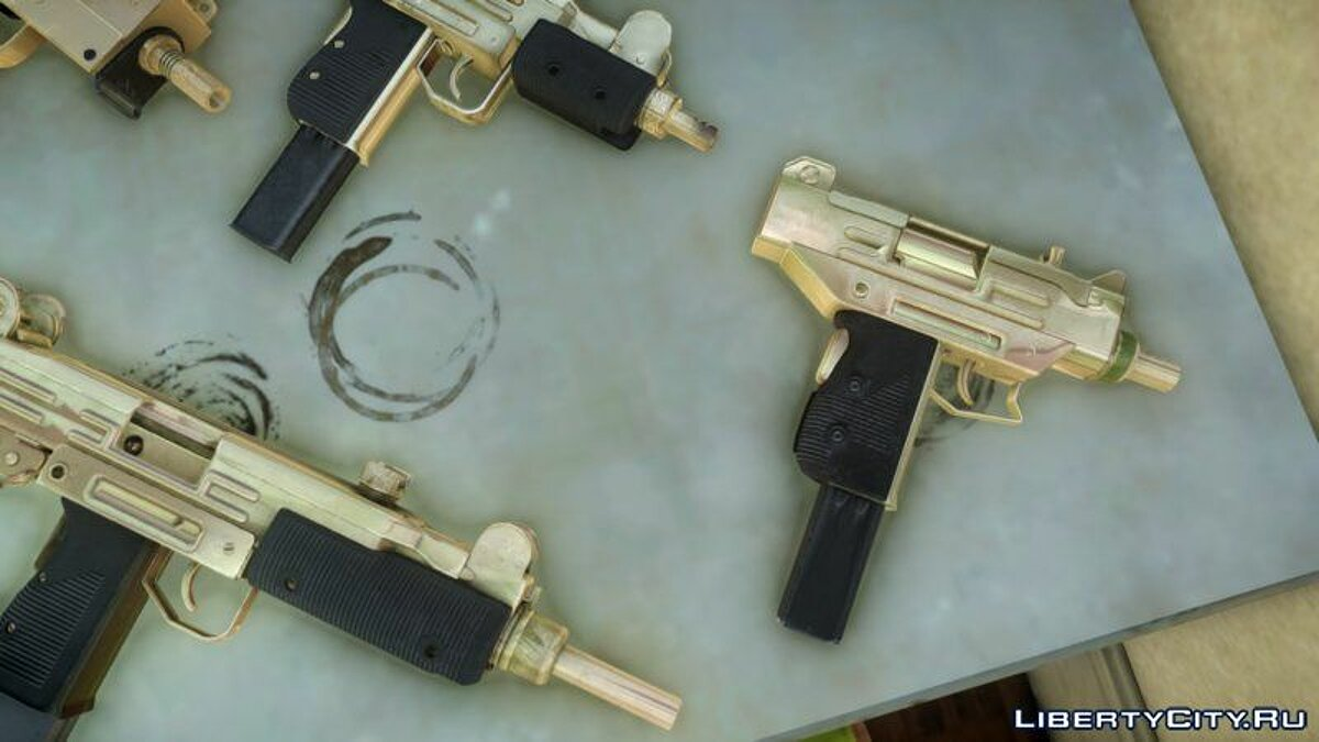 Weapon mod Golden SMG Pak from TBoGT for GTA 4
