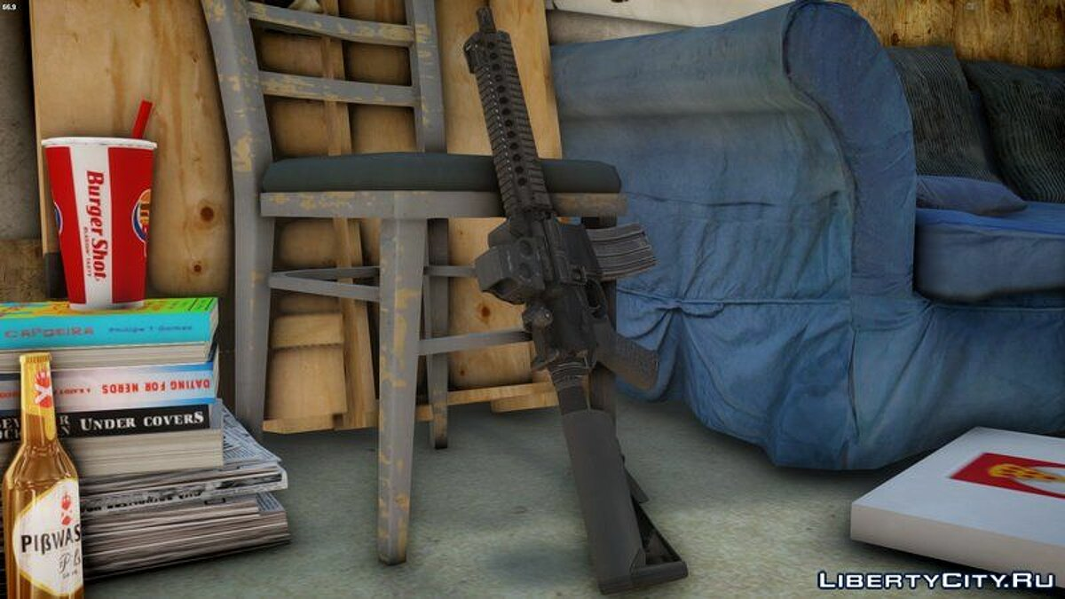 Weapon mod HD MK18 SBR for GTA 4