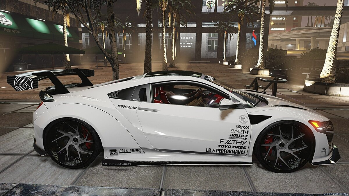 Acura car F7LTHY Liberty Walk NSX [Mod-Kit | Add-on] 2.0 for GTA 5