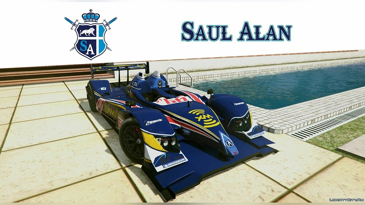 Acura car 09 Acura # 66 ARX-02a [Unlocked] Le Mans Prototype LMP1 1.0 for GTA 5