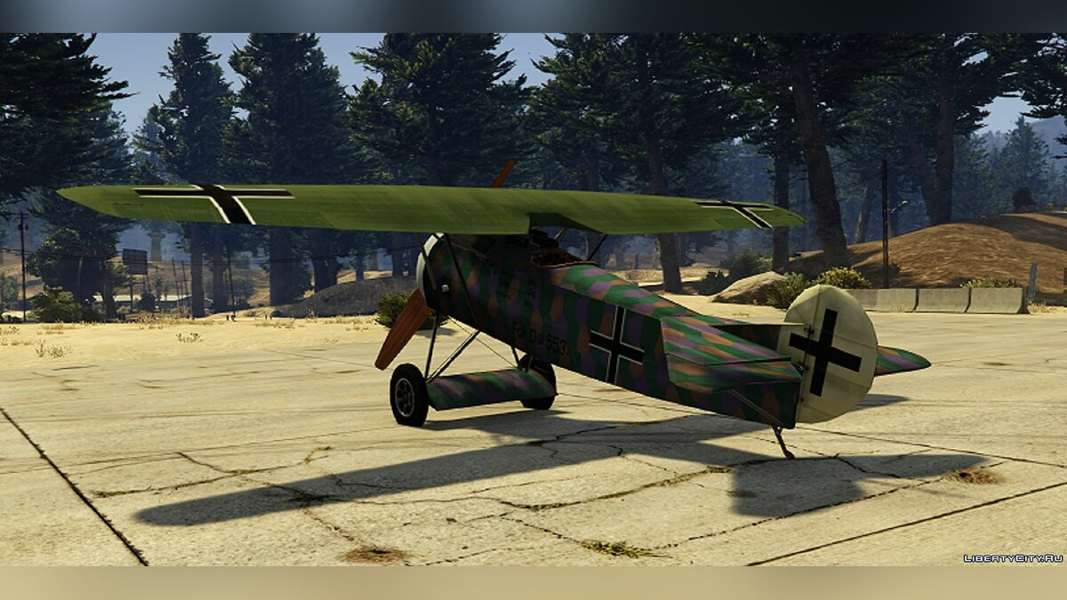Planes and helicopters Fokker DVIII [Add-On] for GTA 5