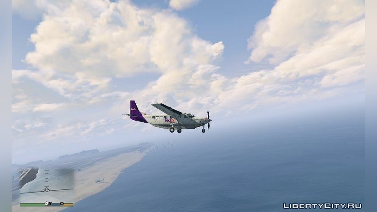 Planes and helicopters Cessna Caravan 208 Fedex GTA V for GTA 5