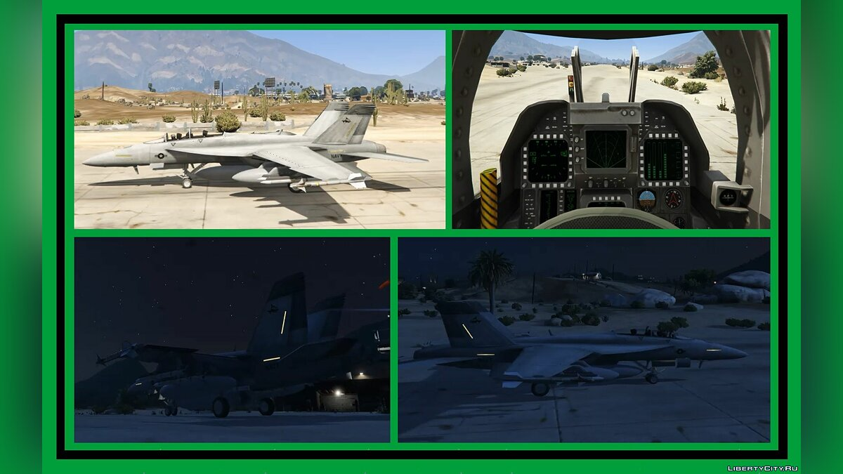 Planes and helicopters F / A-18F Super Hornet / Navy Shark 4-6 [Add-On] 1.0 for GTA 5