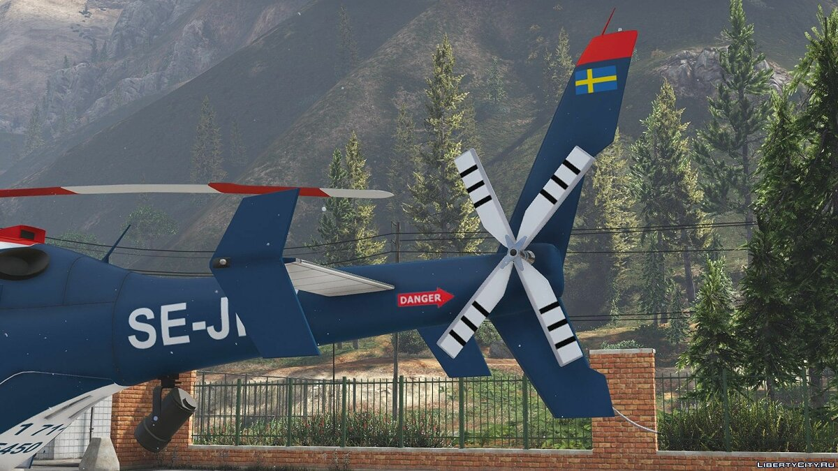 Planes and helicopters Bell 429 Шведская полиция for GTA 5