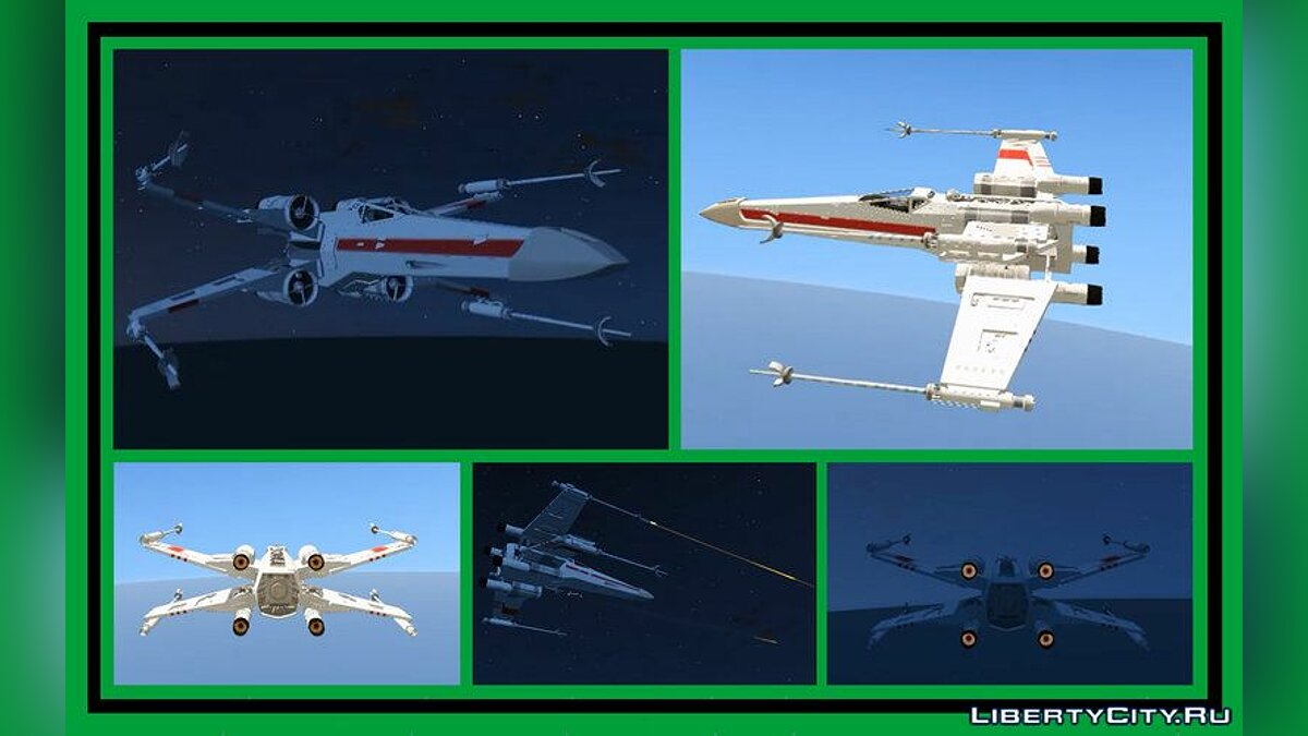 Planes and helicopters Star Wars: X-Wing [Add-On] for GTA 5