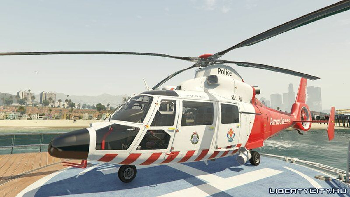 Planes and helicopters Eurocopter AS-365 Air Ambulace [Add-On] for GTA 5