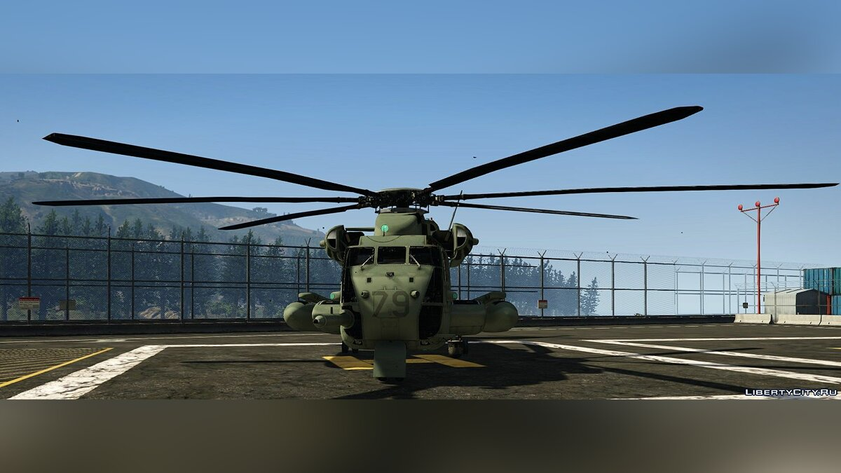 Planes and helicopters Sikorsky CH-53E [Add-On] 1.0 for GTA 5