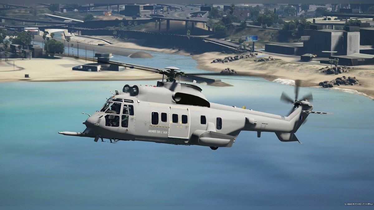 Planes and helicopters Eurocopter EC725 Navy France [Add-on] for GTA 5