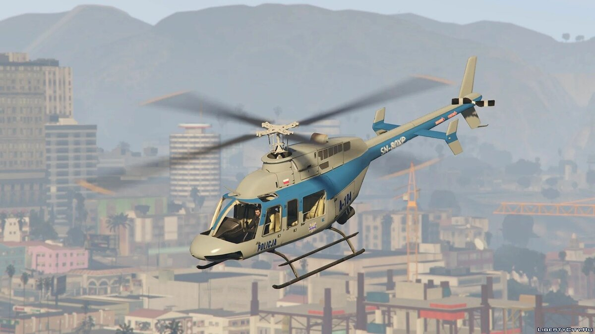 Planes and helicopters Bell 407 - Polish police helicopter for GTA 5