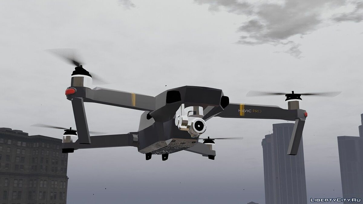 Planes and helicopters DJI Mavic Pro [Add-On] 1.0 for GTA 5