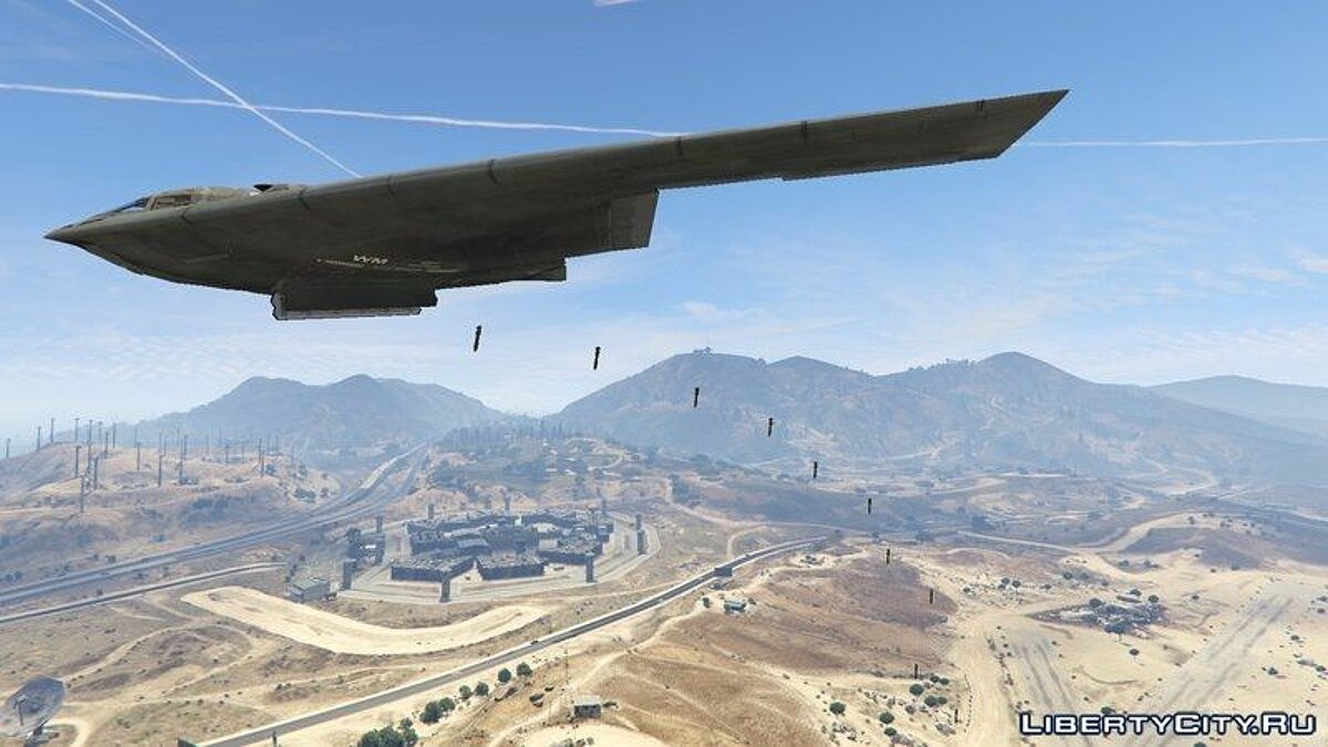 Planes and helicopters B-2A Spirit Stealth Bomber for GTA 5