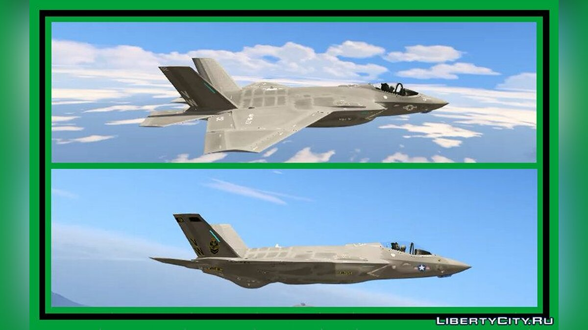 Planes and helicopters F-35C Lightning II / US Marine Corps 0.8.5 fighter-bomber for GTA 5