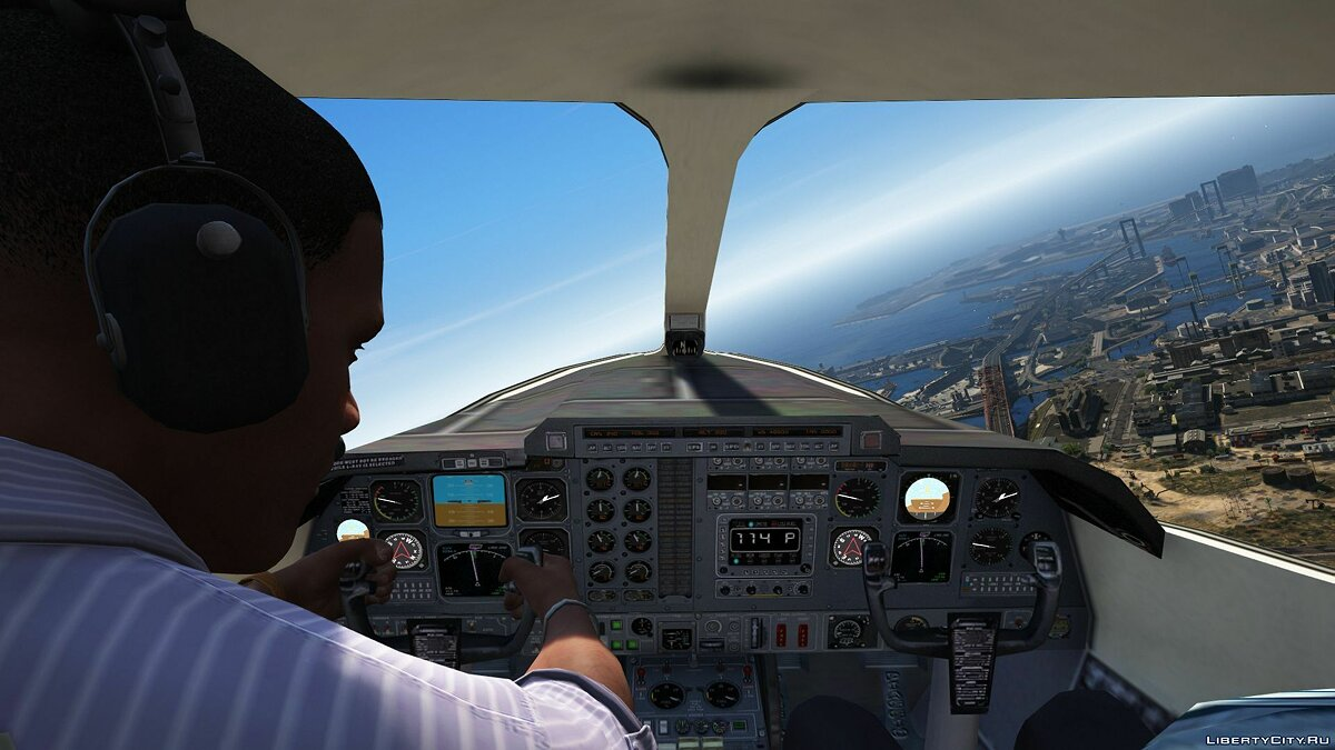 Planes and helicopters Piaggio P.180 Avanti [Add-On] 1.0 for GTA 5