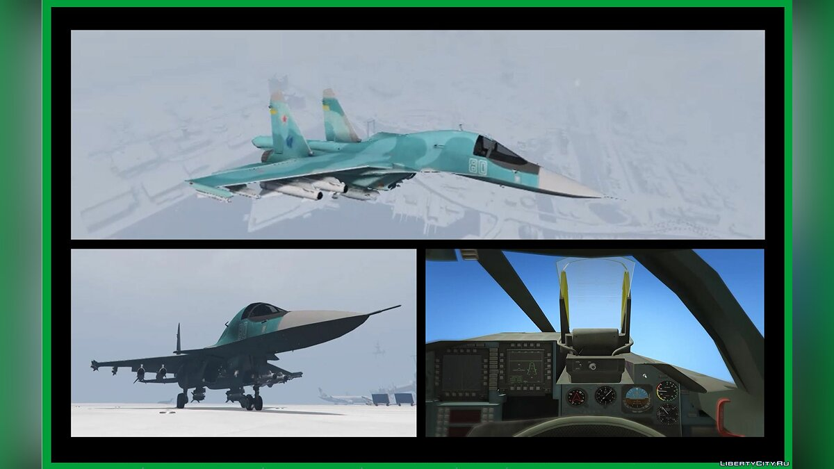 Planes and helicopters SU-34 [Add-On v2] 1.0 Custom Weapons / Missiles 3D for GTA 5