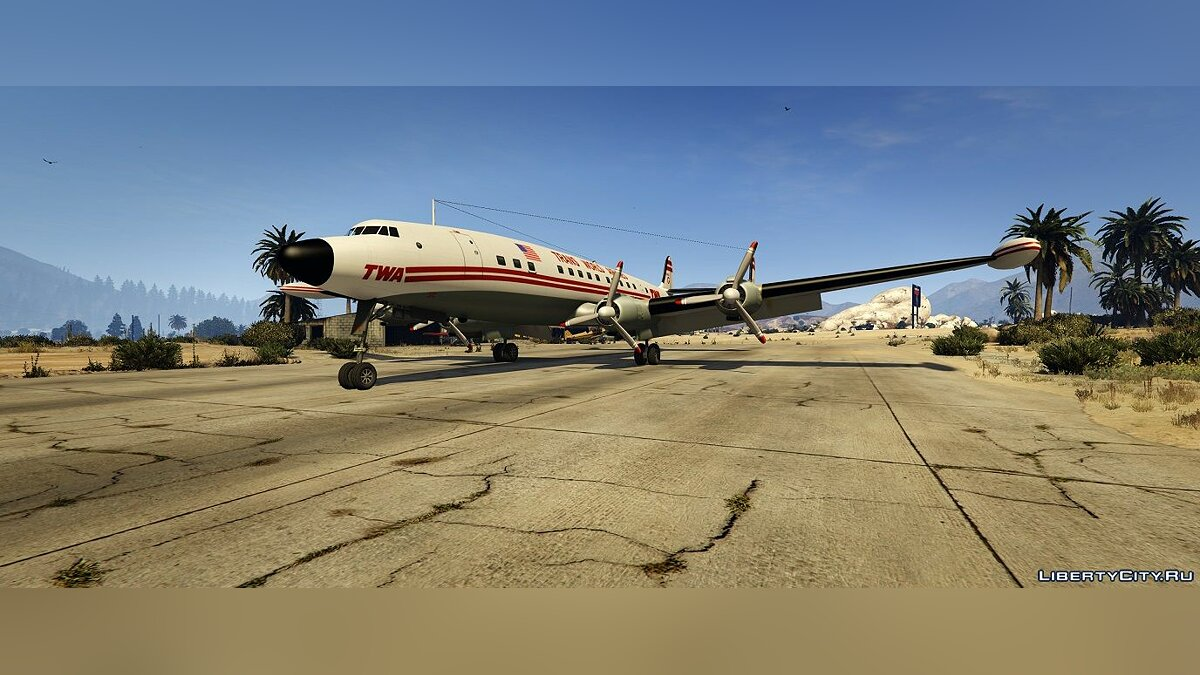 Planes and helicopters Lockheed L-1049 Super Constellation [Add-On] 1.0 for GTA 5