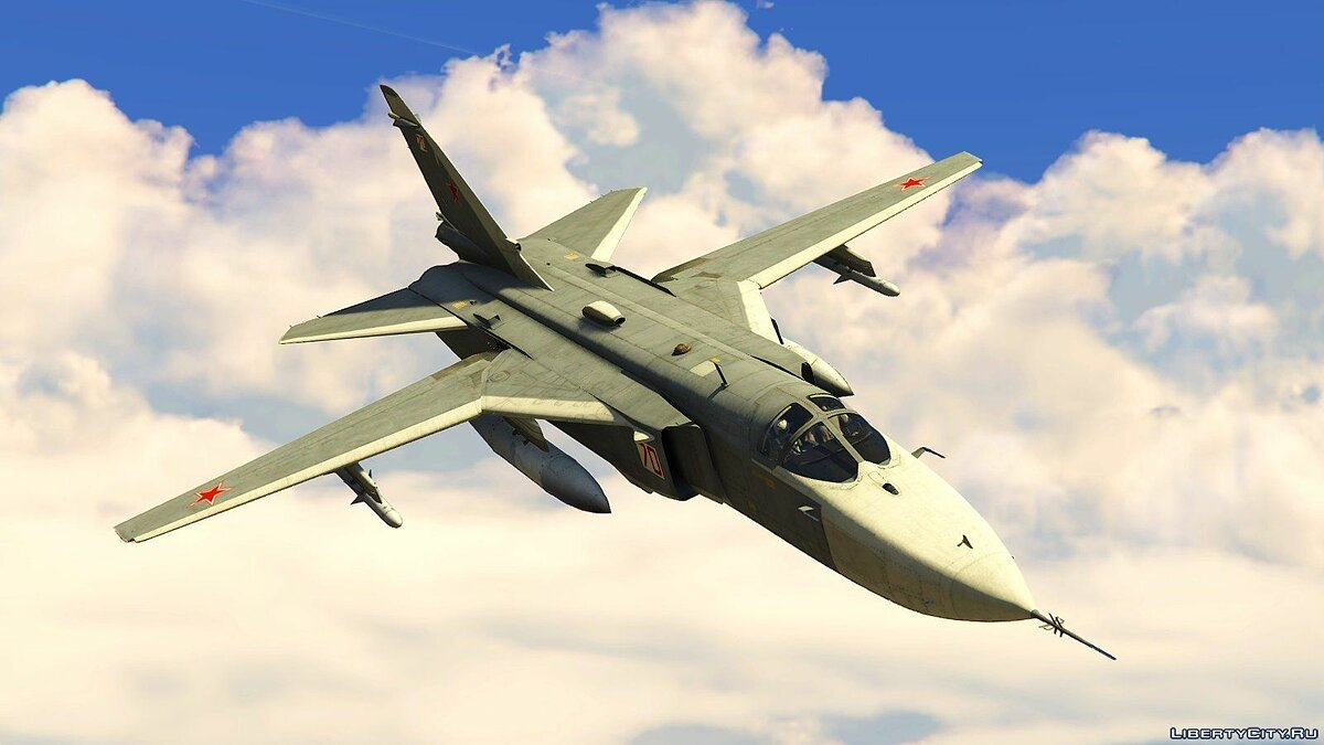 Planes and helicopters Sukhoi SU-24M for GTA 5