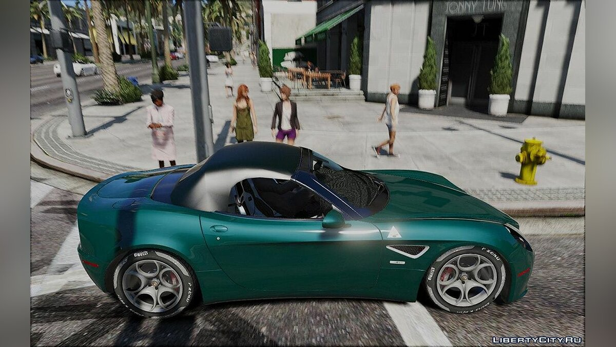 Alfa Romeo car Alfa Romeo 8C Spider 1.0 for GTA 5