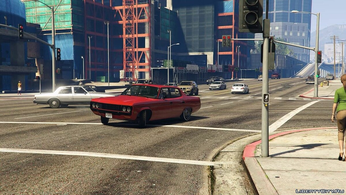 AMC car 1972 AMC Matador No Chrome (Handling + Sound) for GTA 5