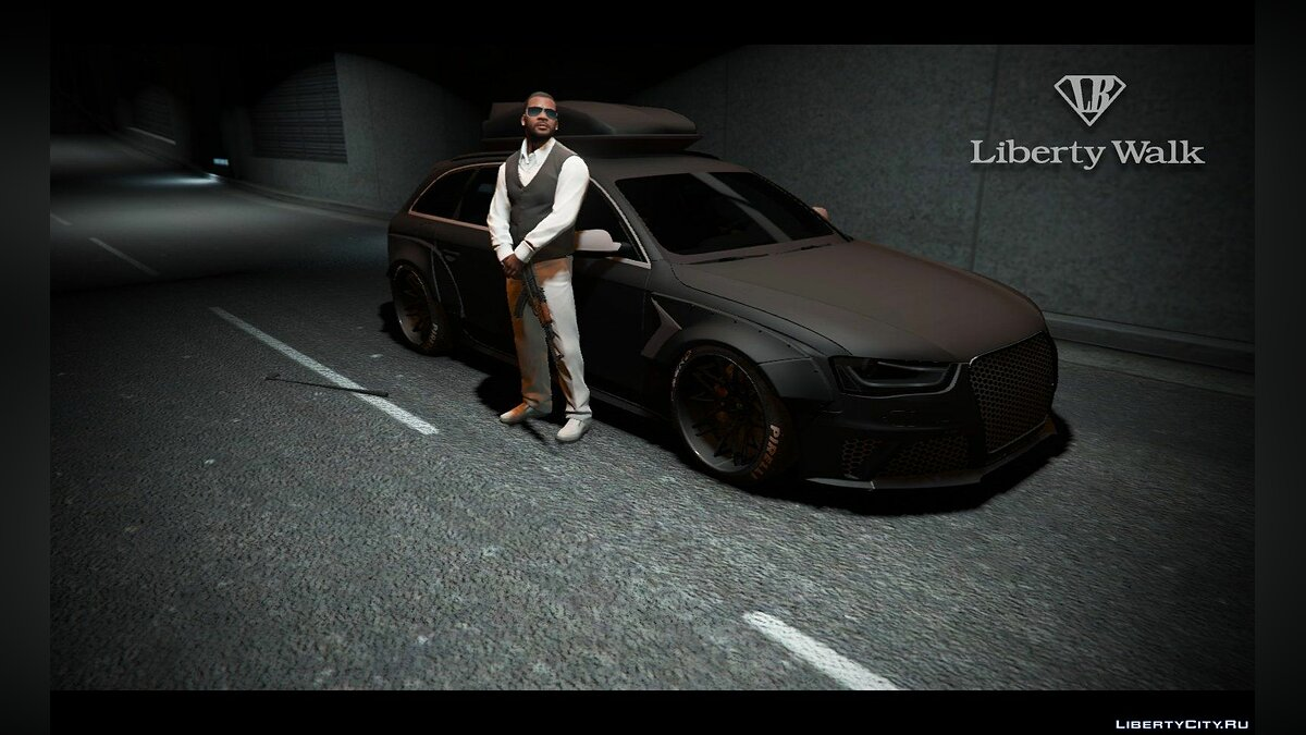 Audi car Audi RS4 Avant [LibertyWalk] for GTA 5