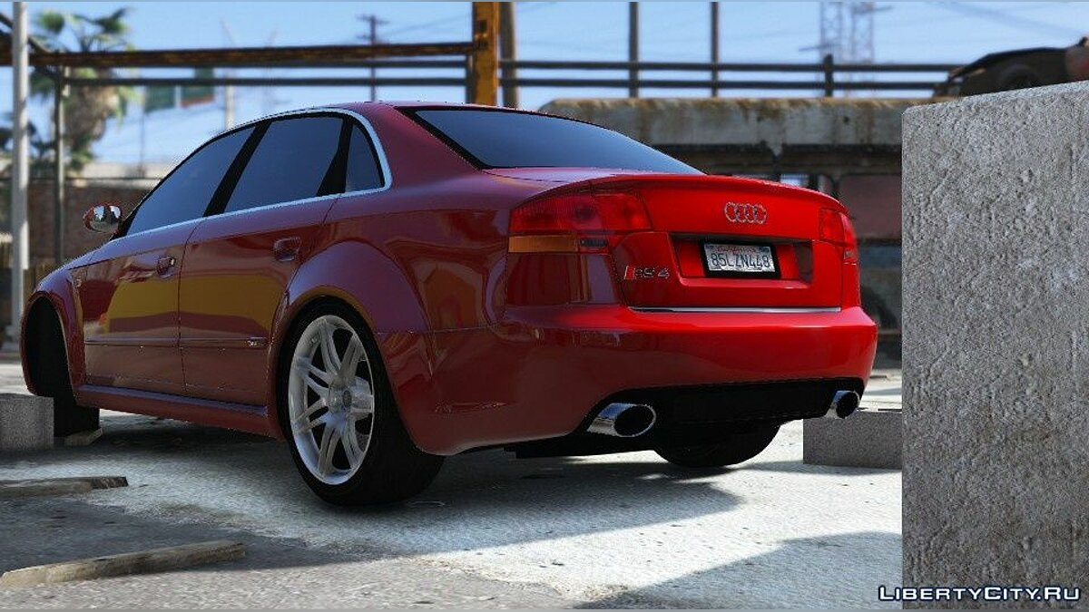 Audi car Audi RS4 B7 2006 [HQ / Add-On / Animated / Dirtmap / Template] V2.0 for GTA 5