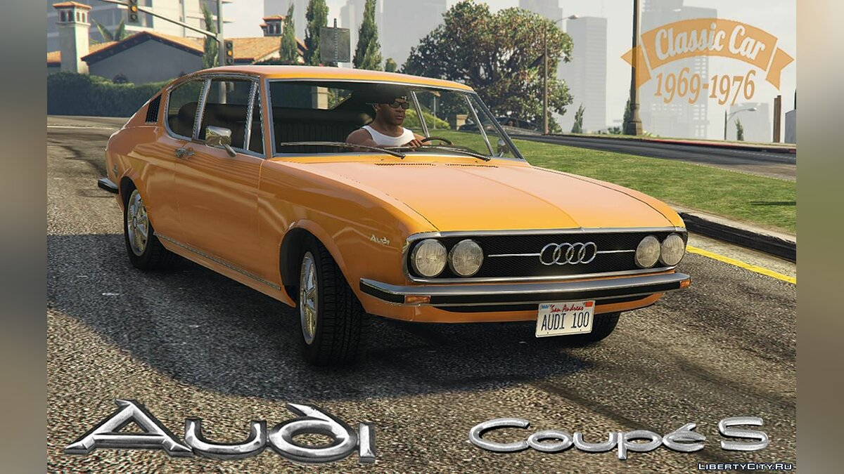 Audi car Audi 100 Coupe S [Add-On | Replace | Tuning] 1.0 for GTA 5