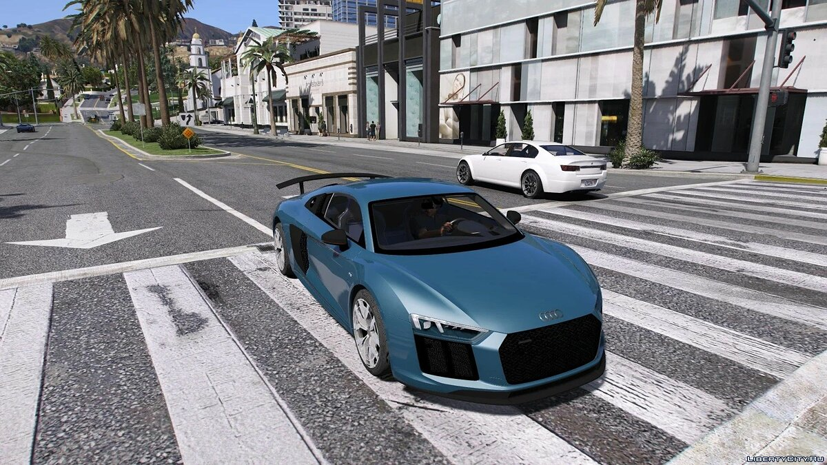 Audi car AUDI R8 2017 [ADD ON | REPLACE] 1.1 for GTA 5