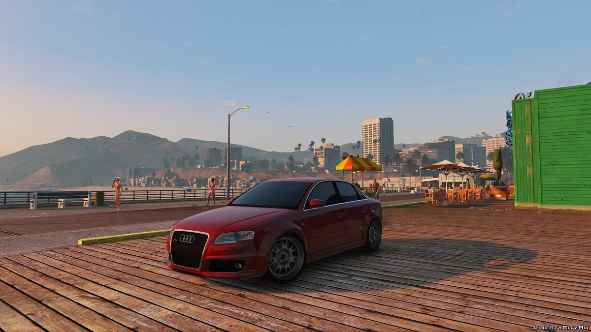 Audi car AUDI RS4 B7 2006 [HQ / Add-On / Animated / Dirtmap / Template] for GTA 5