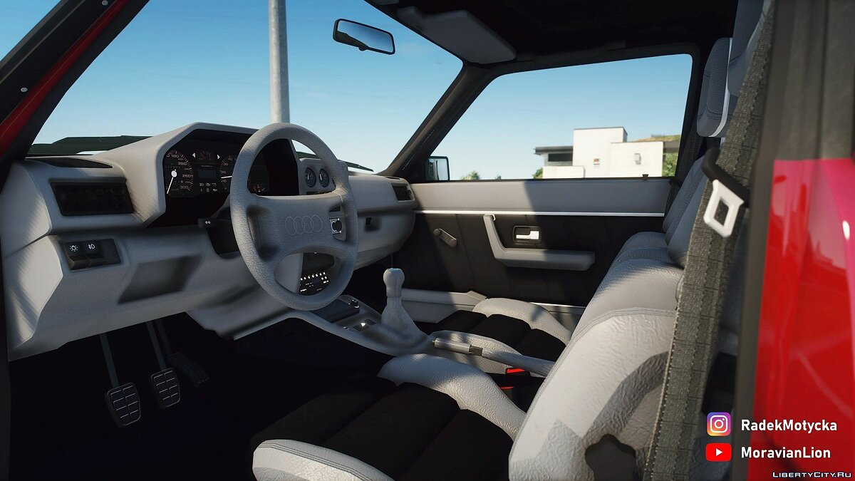 Audi car Audi Quattro Sport '83 [LODs | Template | Add-on | Tuning] 1.0 hf for GTA 5