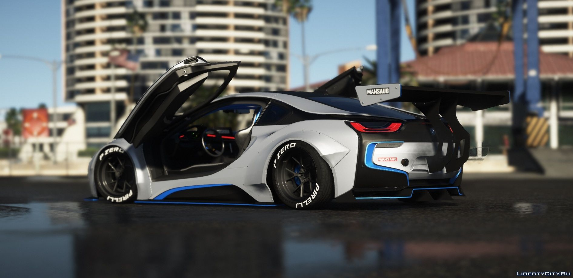 Bmw I8 Coupe Mansaug Replace Addon Template 1 0 For Gta 5