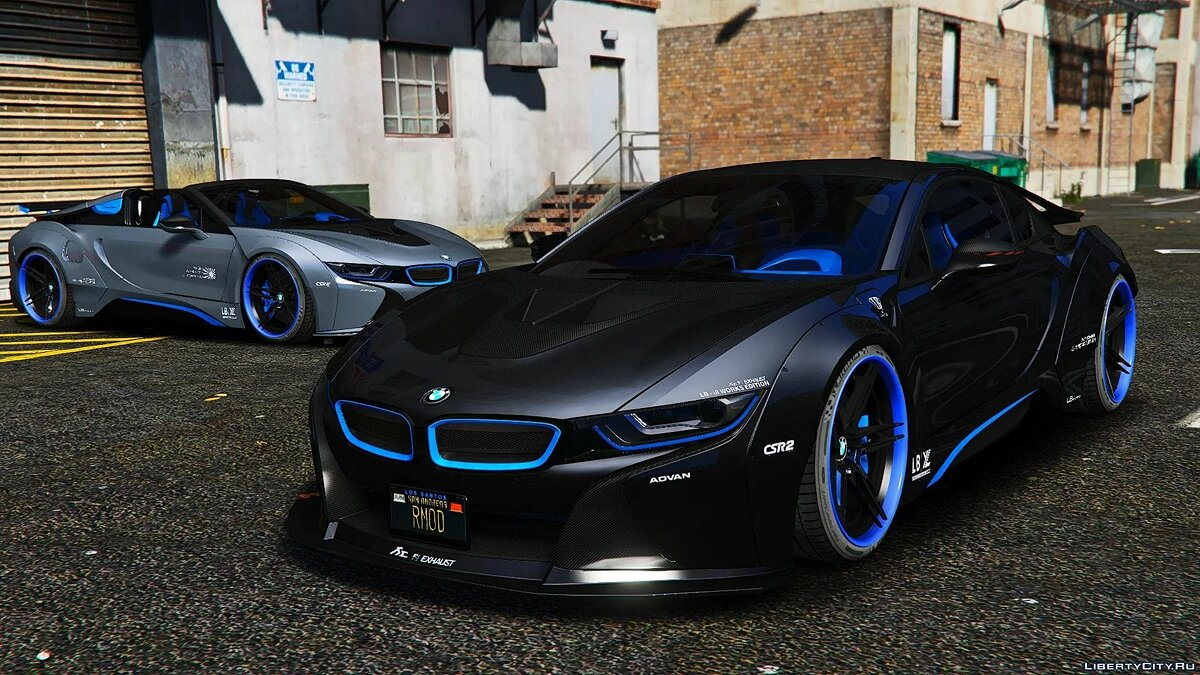 BMW car BMW I8M Liberty Walk 1.0 for GTA 5