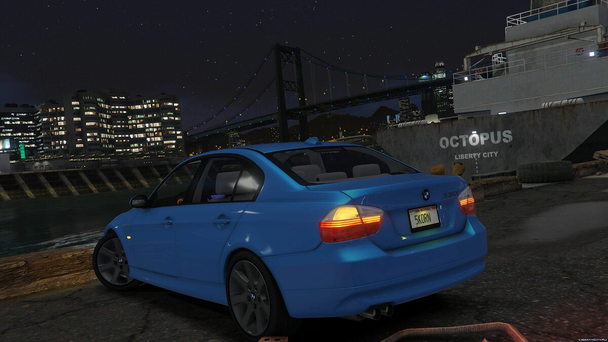 BMW car 2007 BMW 330i E90 [Add-On / Replace] 1.6 for GTA 5