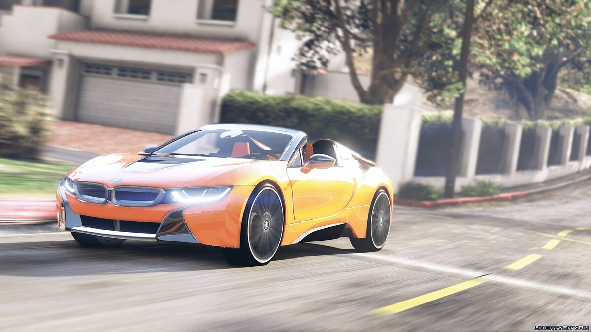 BMW car 2019 BMW i8 Roadster [Add-On / Replace] 1.1 for GTA 5