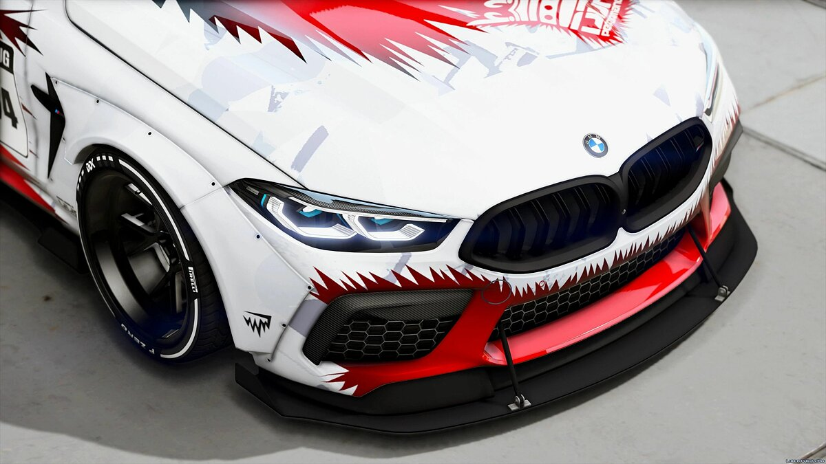 BMW car BMW M8 Competition MANSAUG [Add-On / Replace | Template | Digital Dials] 1.0 for GTA 5