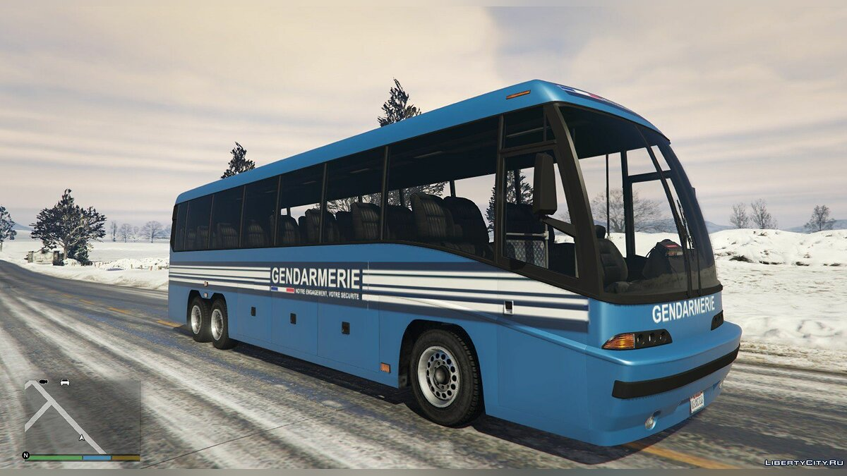 Bus National Gendarmerie Bus [Replace] for GTA 5