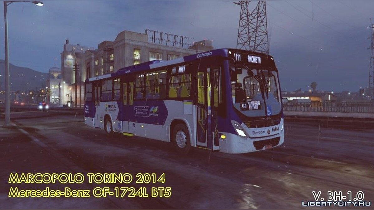 Bus Marcopolo Torino 2014 MB OF-1724L (Replace | Livery) 0.1 for GTA 5