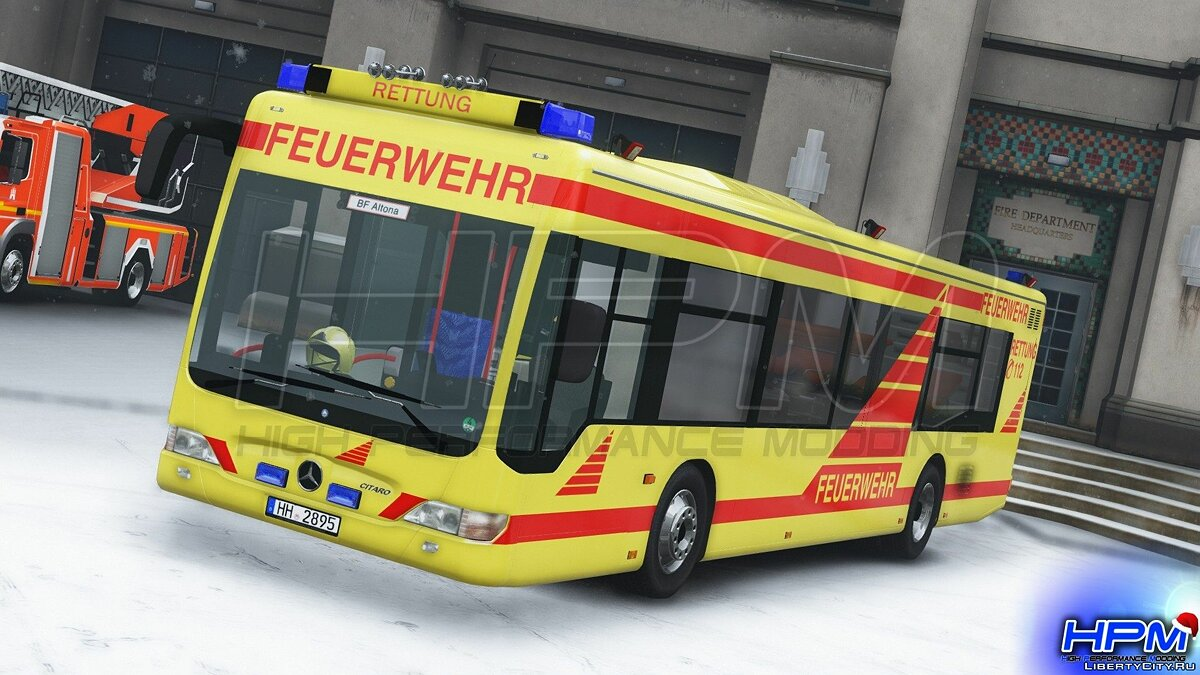 Bus [Enterable | Replace | ELS] 2010 MB Citaro O530 [G-RTW] BF Hamburg 1.0 for GTA 5